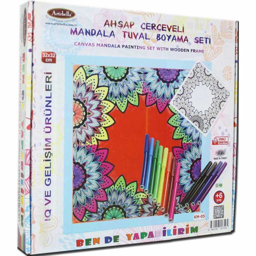 ben de yapabilirim tuval mandala kalem boya 32x32 km 05 594340 14 B -Artebella Art & Craft Hobi ve Sanat Ürünleri