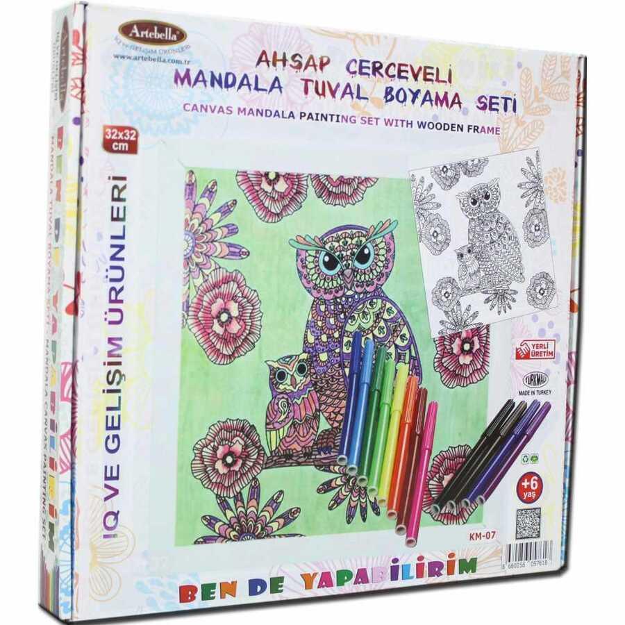 ben de yapabilirim tuval mandala kalem boya 32x32 km 07 594638 14 B -Artebella Art & Craft Hobi ve Sanat Ürünleri