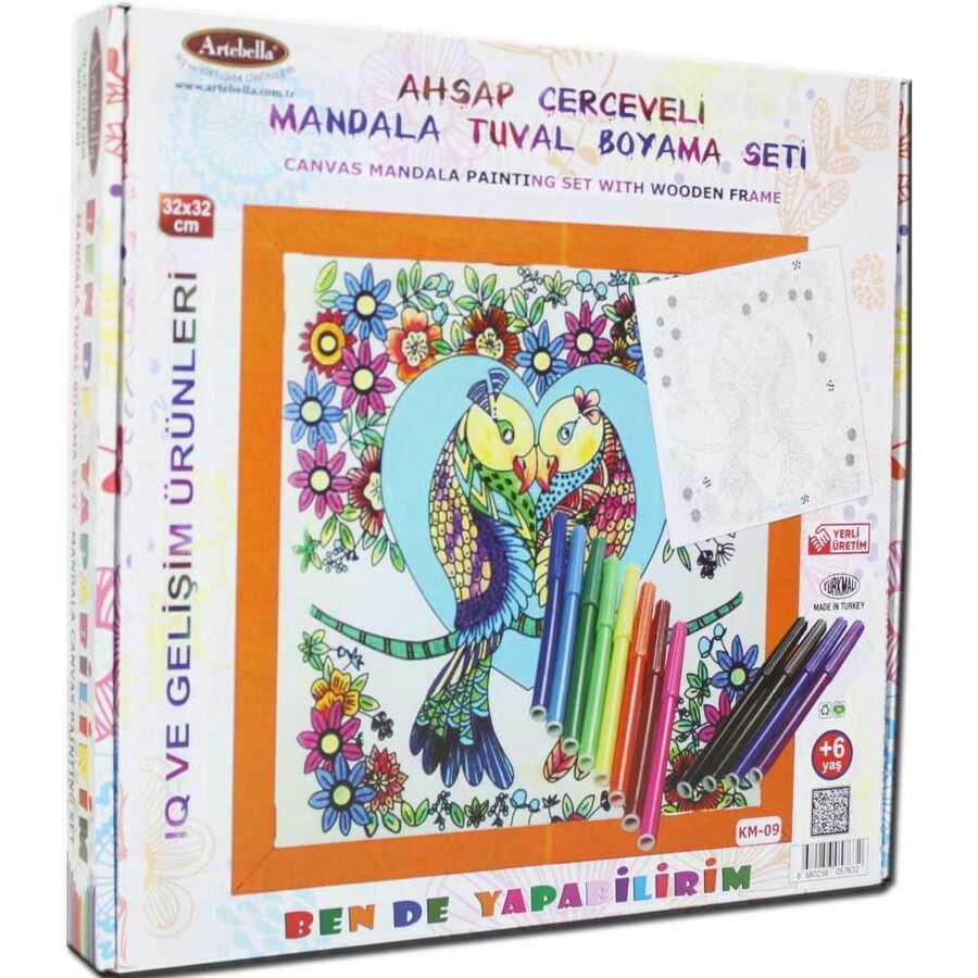 ben de yapabilirim tuval mandala kalem boya 32x32 km 09 610647 14 B -Artebella Art & Craft Hobi ve Sanat Ürünleri