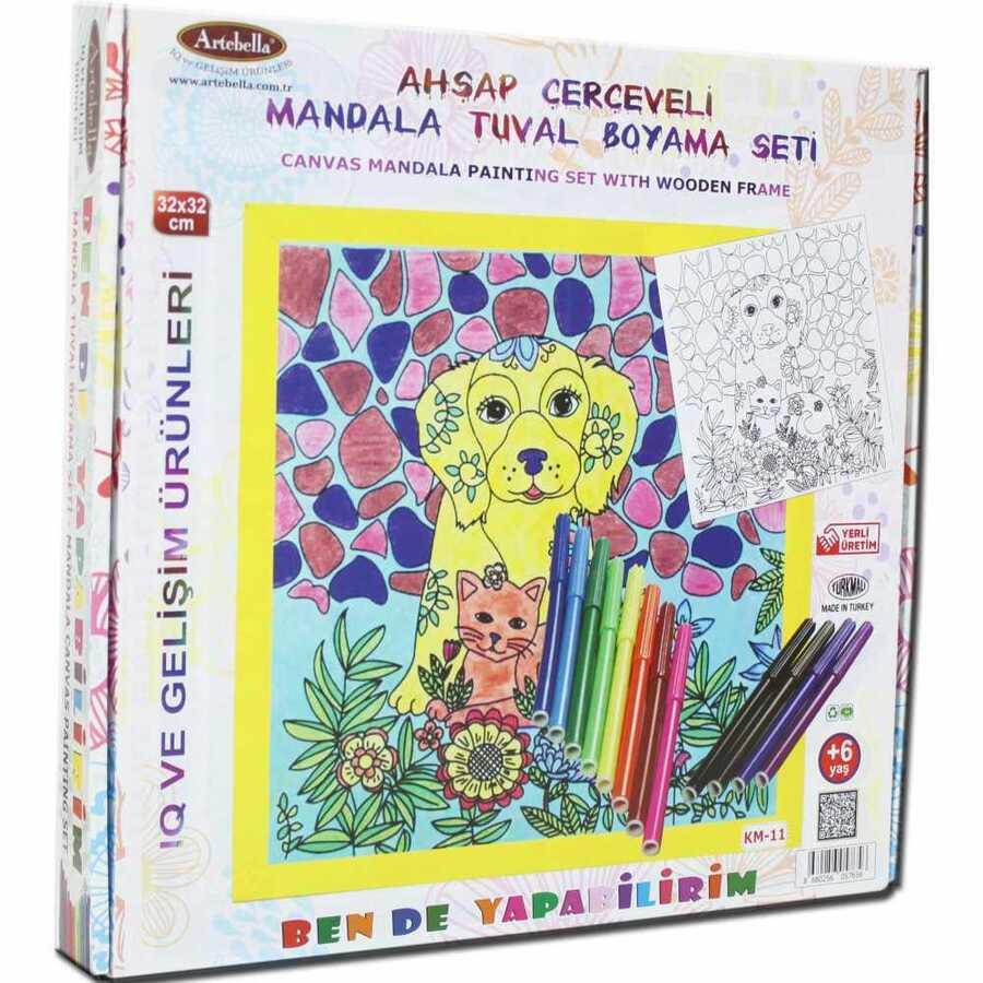 ben de yapabilirim tuval mandala kalem boya 32x32 km 11 611005 14 B -Artebella Art & Craft Hobi ve Sanat Ürünleri