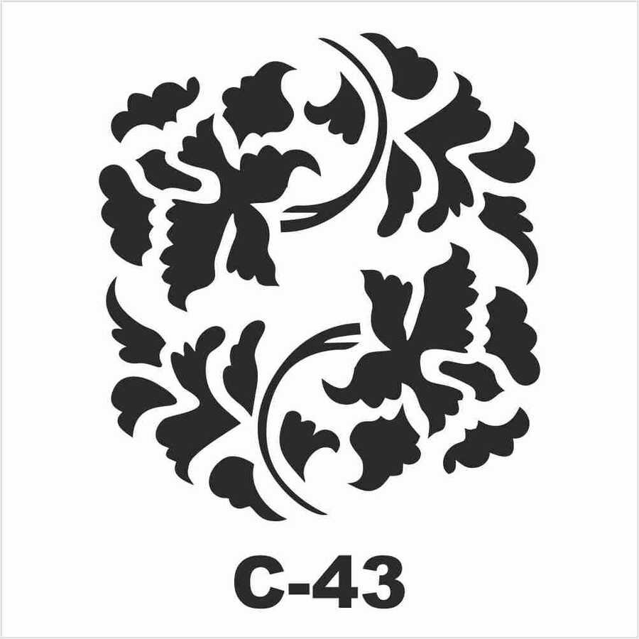 c 43 artebella stencil 15x20 cm 597041 14 B -Artebella Art & Craft Hobi ve Sanat Ürünleri