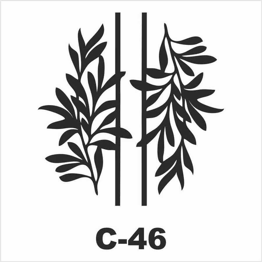 c 46 artebella stencil 15x20 cm 602245 14 B -Artebella Art & Craft Hobi ve Sanat Ürünleri
