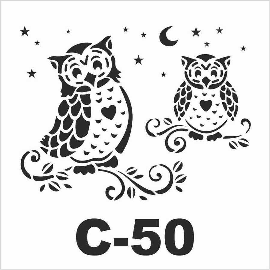 c 50 artebella stencil 15x20 cm 611074 14 B