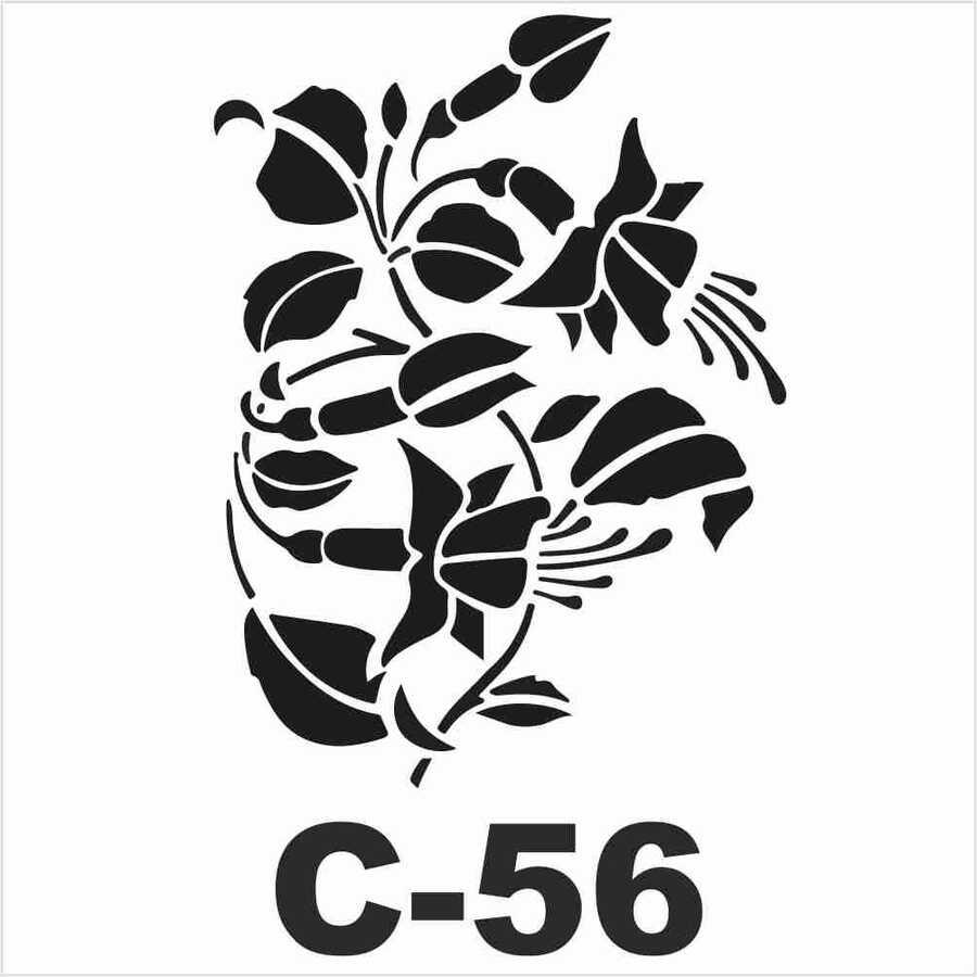 c 56 artebella stencil 15x20 cm 597080 14 B -Artebella Art & Craft Hobi ve Sanat Ürünleri