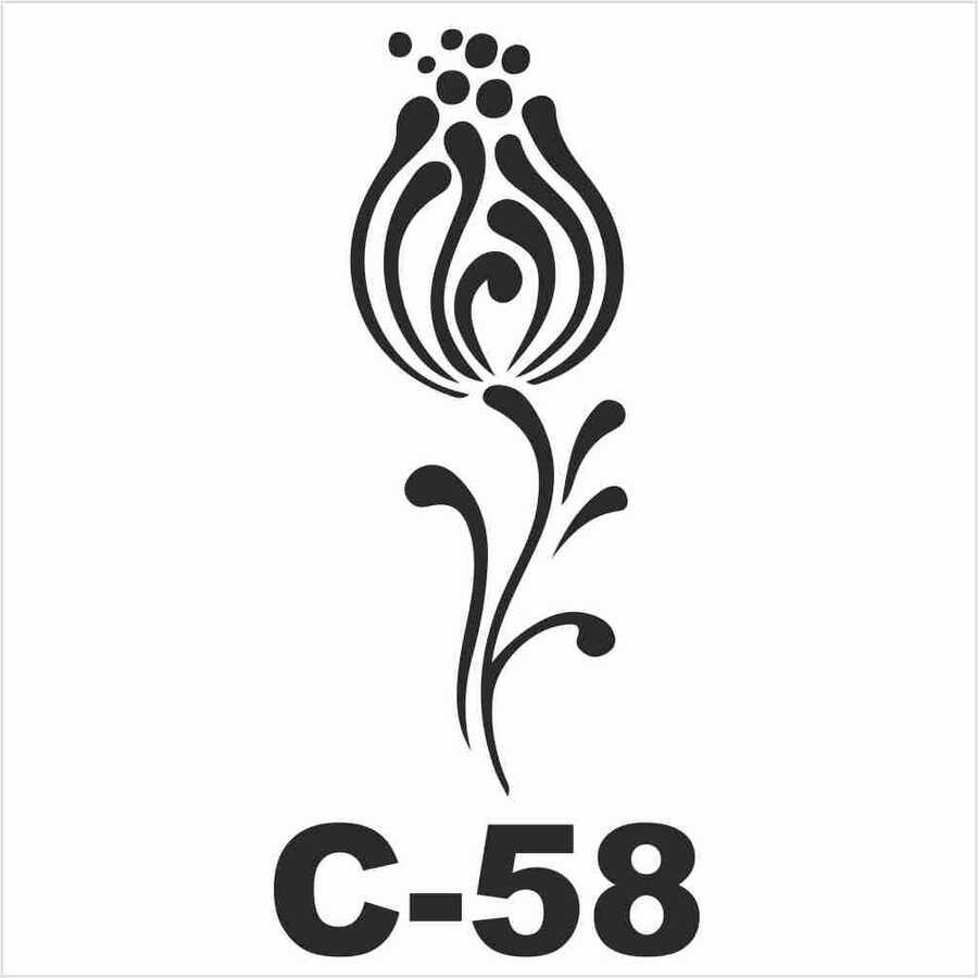 c 58 artebella stencil 15x20 cm 600348 14 B