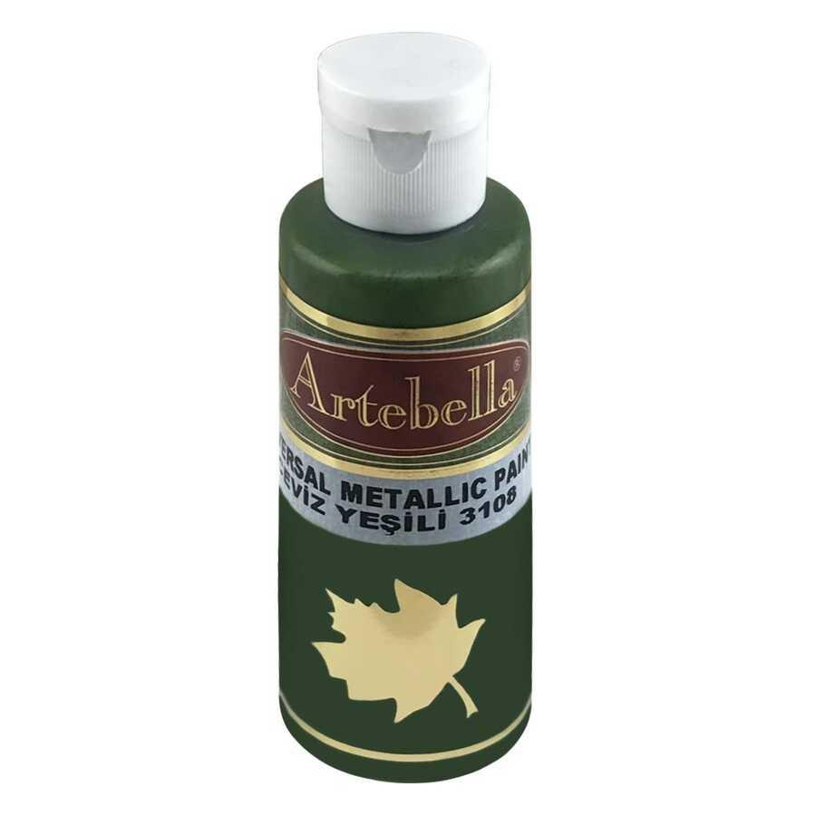 ceviz yesili metalik boya 597944 60 B -Artebella Art & Craft Hobi ve Sanat Ürünleri