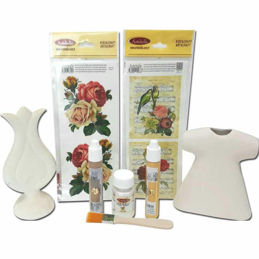 kmps0008 artebella siz de yapabilirsiniz seramik obje seti 603087 15 B -Artebella Art & Craft Hobi ve Sanat Ürünleri
