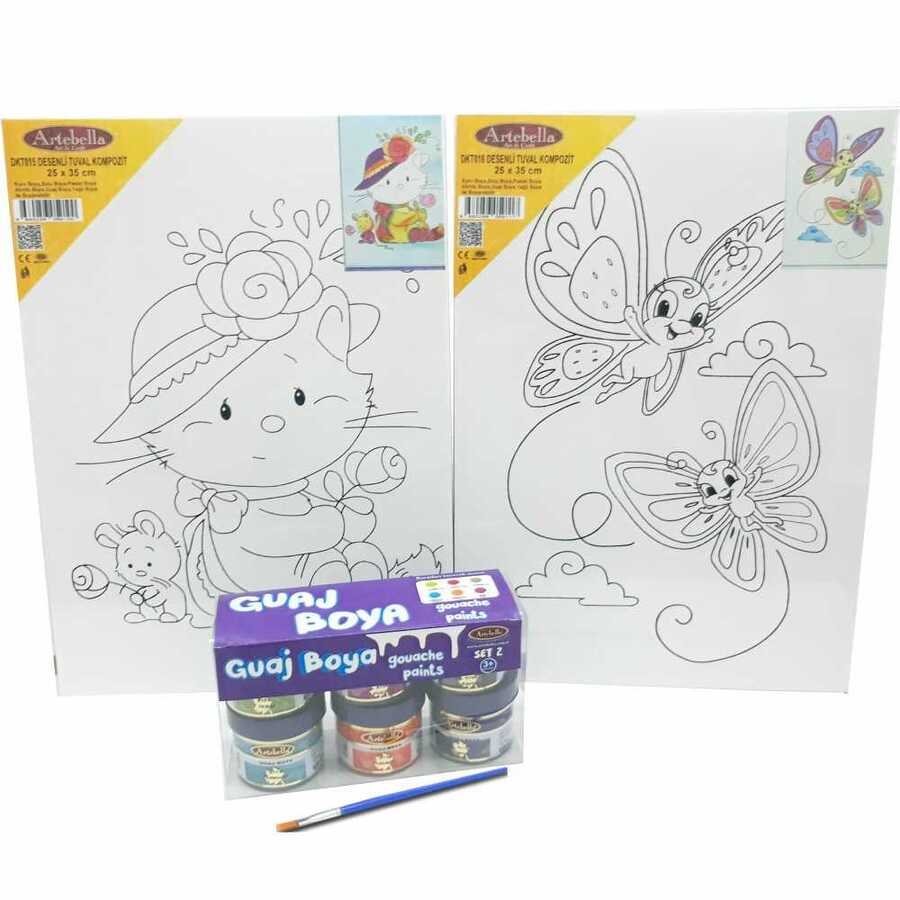 kmps0012 artebella ben de yapabilirim desenli tuval boyama seti 603290 15 B -Artebella Art & Craft Hobi ve Sanat Ürünleri