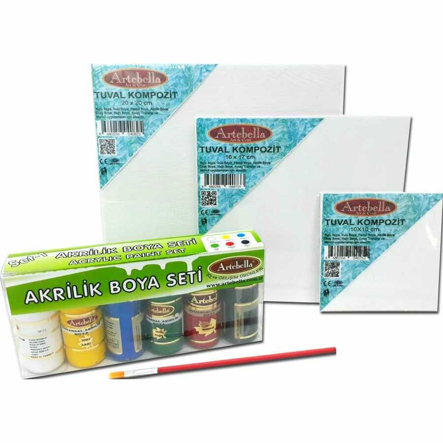 kmps0015 artebella ben de yapabilirim tuval boyama seti 603159 15 B