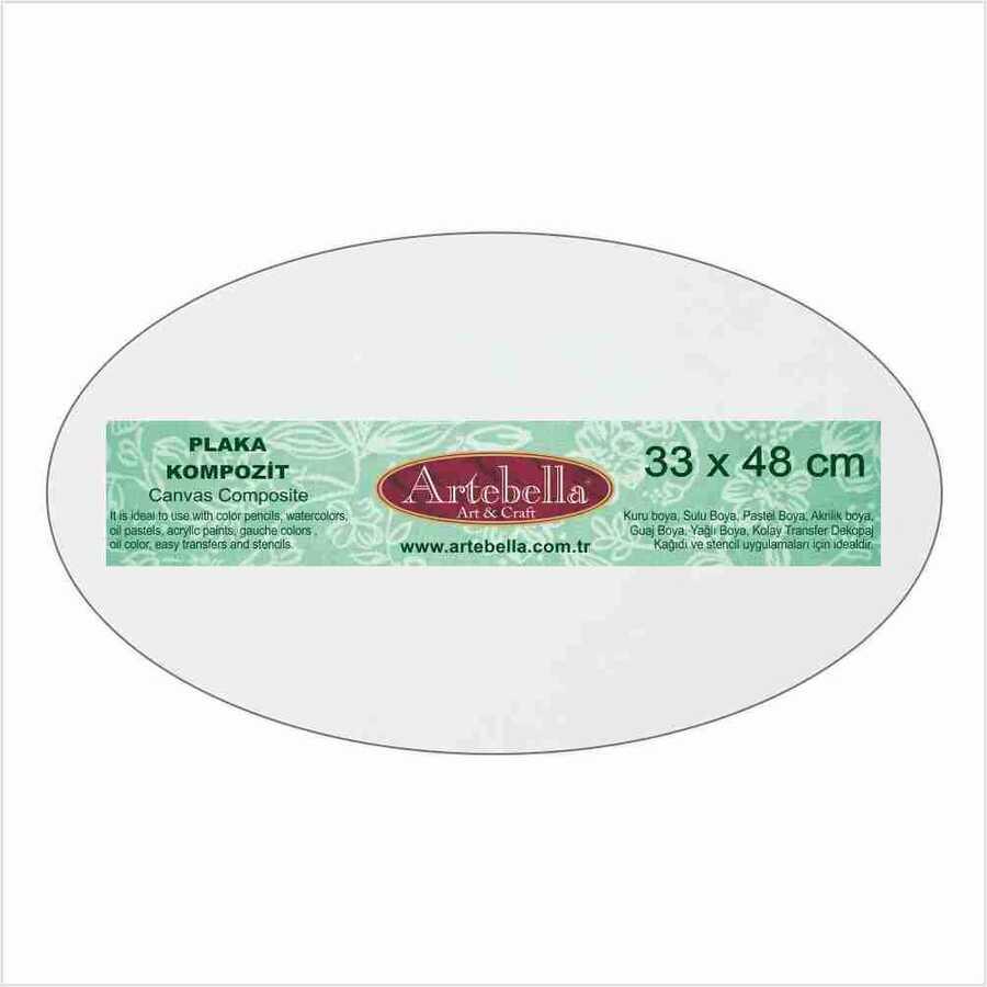 kompozit plaka elips 33x48 cm 594558 14 B -Artebella Art & Craft Hobi ve Sanat Ürünleri