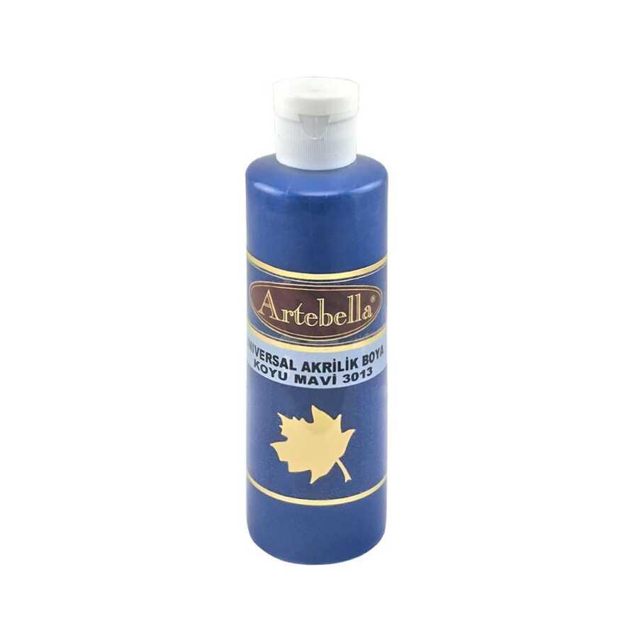 koyu mavi opak boya 260 cc 609135 75 B -Artebella Art & Craft Hobi ve Sanat Ürünleri