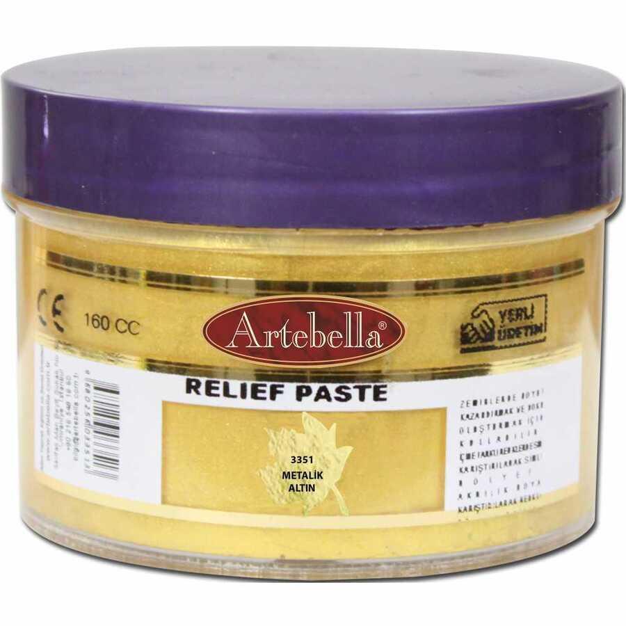 metalik altin rolyef pasta 610460 17 B -Artebella Art & Craft Hobi ve Sanat Ürünleri