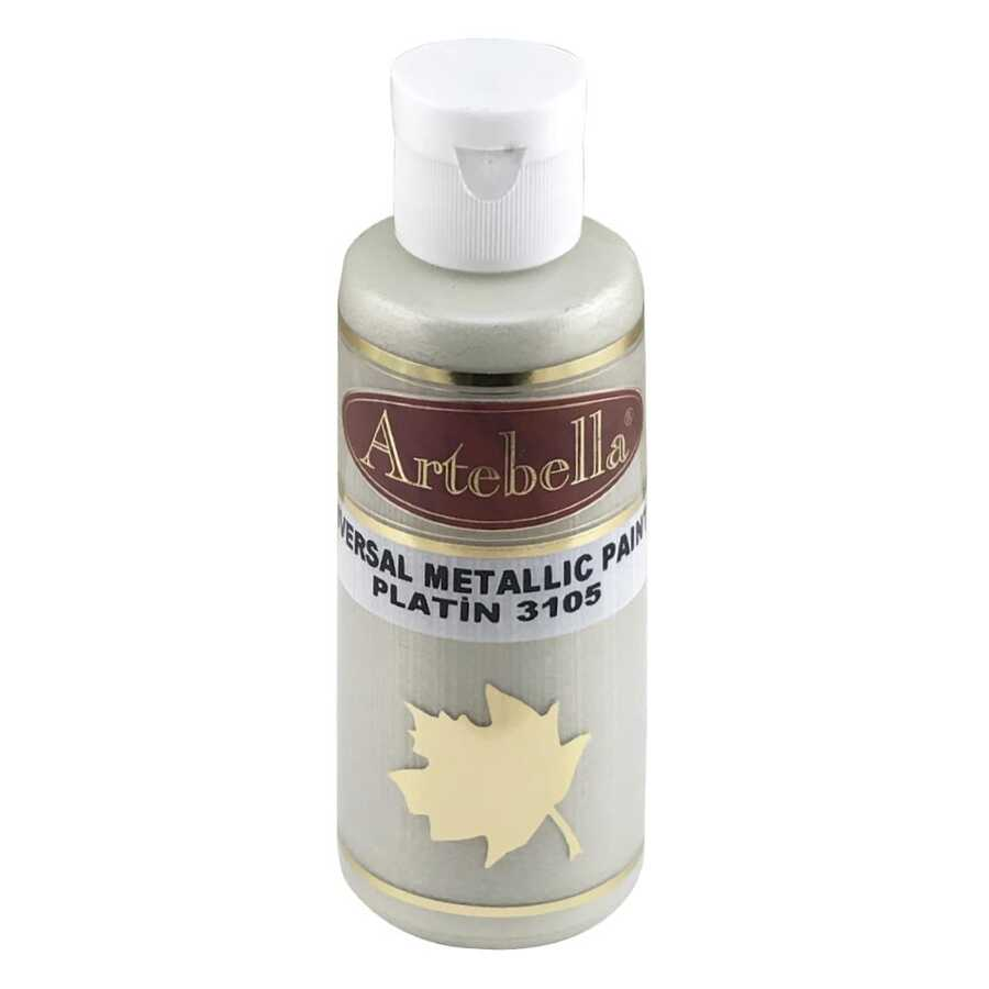 platin metalik boya 130 cc 609683 57 B -Artebella Art & Craft Hobi ve Sanat Ürünleri