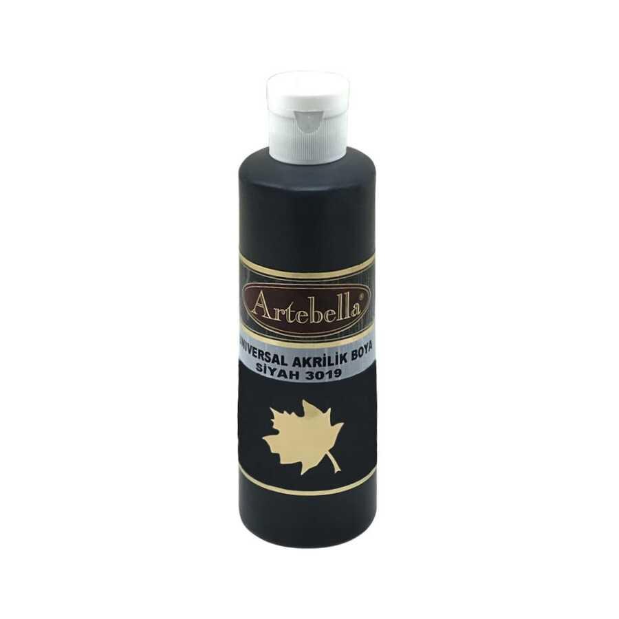 siyah opak boya 260 cc 609133 73 B -Artebella Art & Craft Hobi ve Sanat Ürünleri