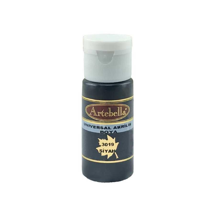 siyah opak boya 30 cc 609151 13 B -Artebella Art & Craft Hobi ve Sanat Ürünleri