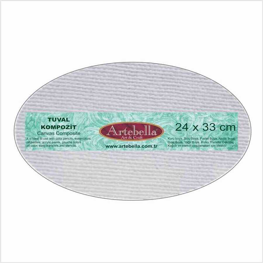 tuval kompozit elips 24x33 cm 610779 14 B -Artebella Art & Craft Hobi ve Sanat Ürünleri