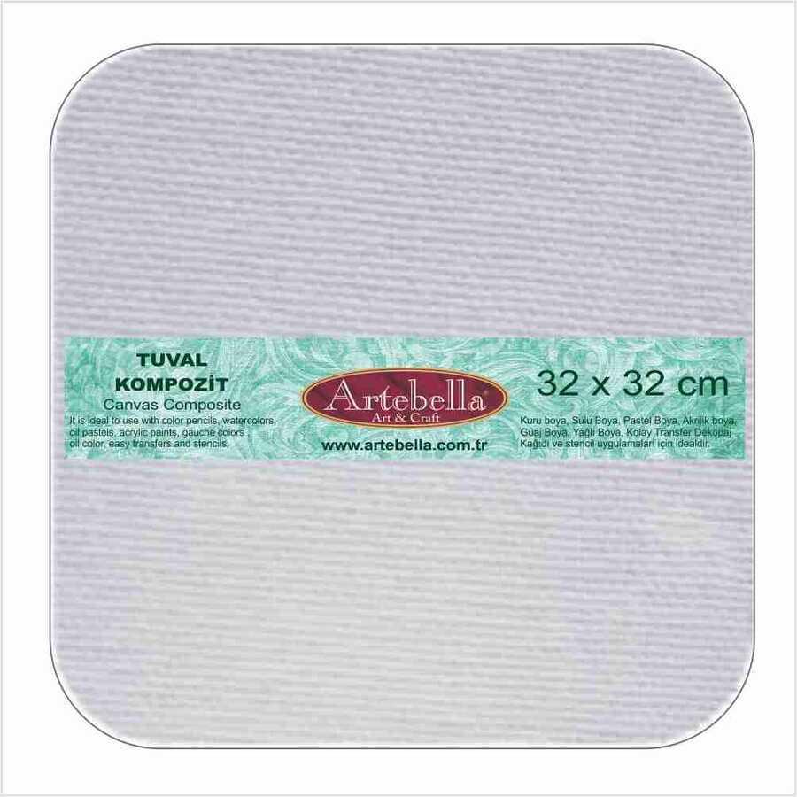 tuval kompozit kavisli kare 32x32 cm 610536 14 B -Artebella Art & Craft Hobi ve Sanat Ürünleri