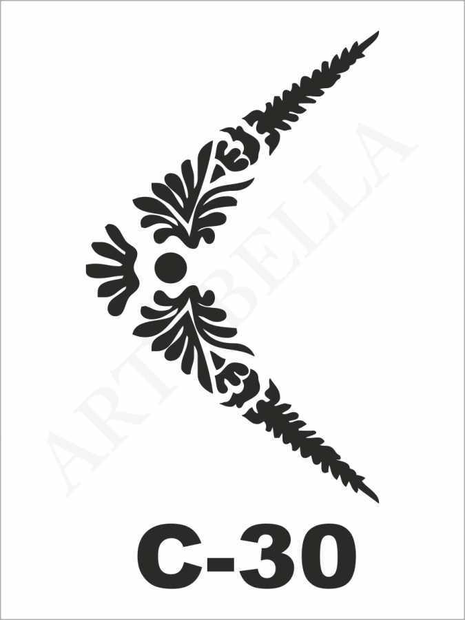 u26326artebella c 30 stencil c serisi 15x20 cm c serisi stenciller 15x20 artebellahtm 596251 26 B