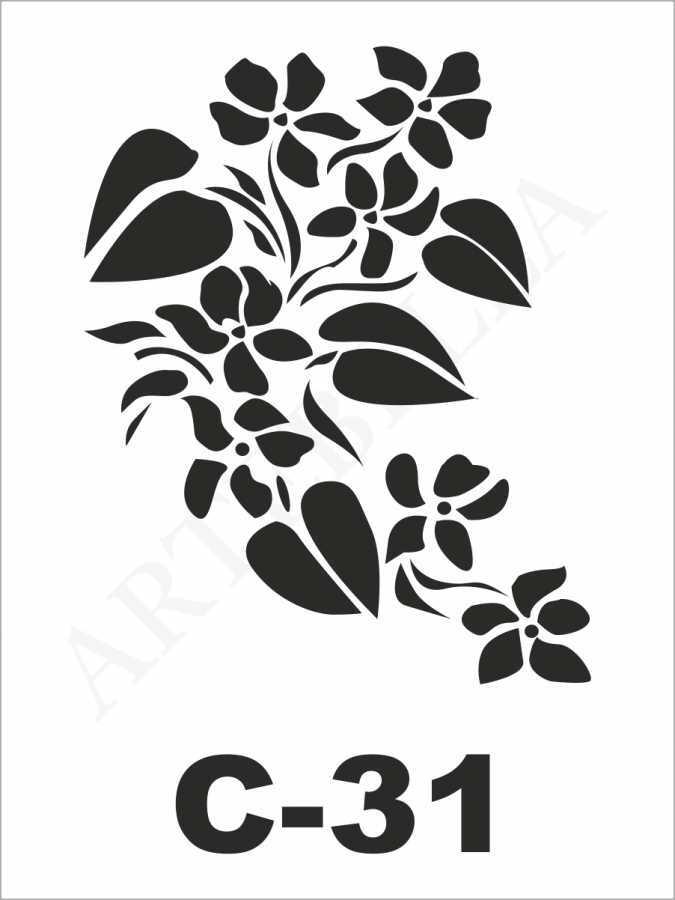 u26426artebella c 31 stencil c serisi 15x20 cm c serisi stenciller 15x20 artebellahtm 607726 26 B -Artebella Art & Craft Hobi ve Sanat Ürünleri