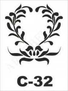 u26526artebella c 32 stencil c serisi 15x20 cm c serisi stenciller 15x20 artebellahtm 596255 26 B