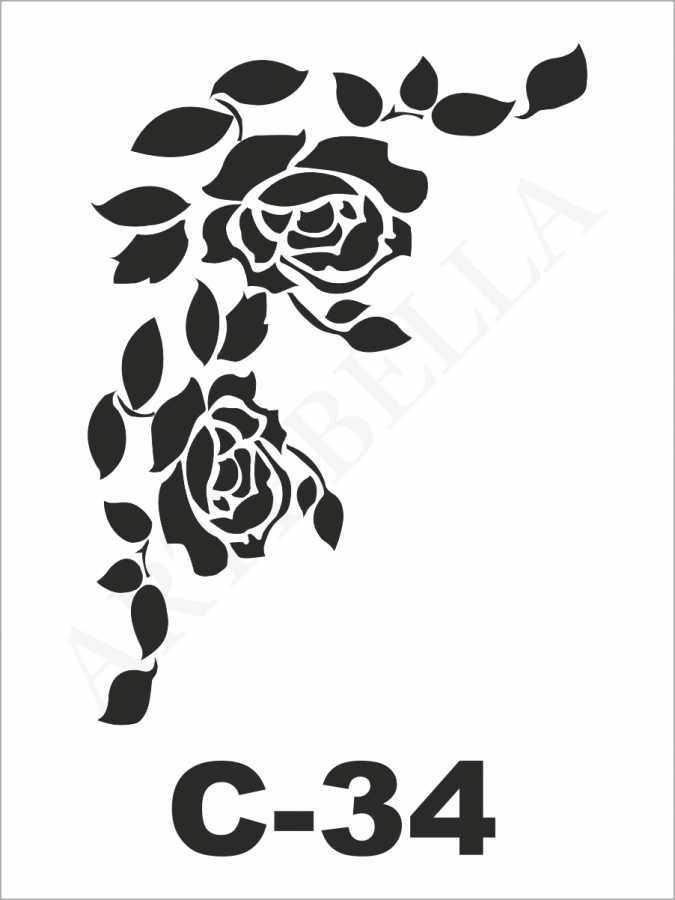 u26726artebella c 34 stencil c serisi 15x20 cm c serisi stenciller 15x20 artebellahtm 596259 26 B -Artebella Art & Craft Hobi ve Sanat Ürünleri