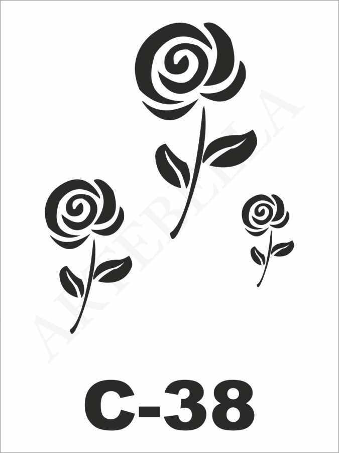 u27126artebella c 38 stencil c serisi 15x20 cm c serisi stenciller 15x20 artebellahtm 596263 27 B