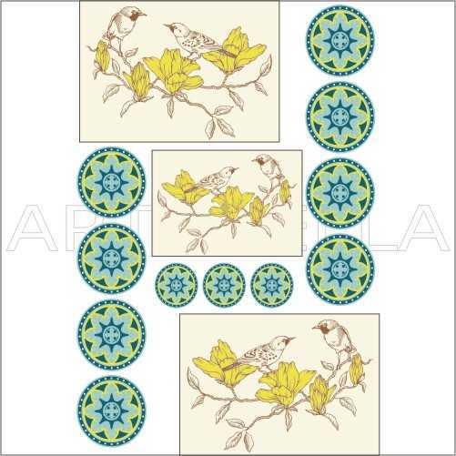 u2899154945 artebella soft transferacik zeminde uygulanir 23x34 cm kolay transfer hayvanlar alemi artebellahtm 597178 28 B