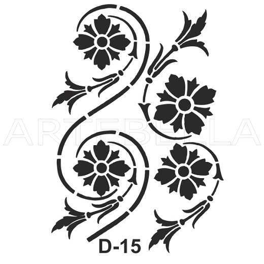 u52930artebella d 15 stencil d serisi 20x30 cm d serisi stenciller 20x30 artebellahtm 607437 52 B -Artebella Art & Craft Hobi ve Sanat Ürünleri