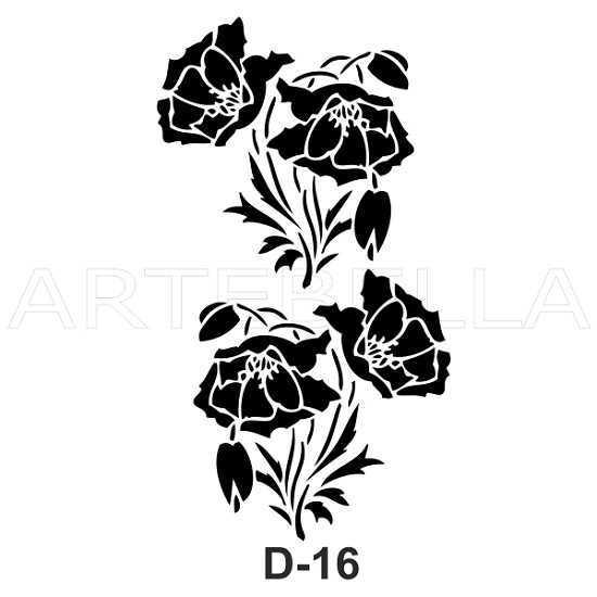 u53030artebella d 16 stencil d serisi 20x30 cm d serisi stenciller 20x30 artebellahtm 597102 53 B -Artebella Art & Craft Hobi ve Sanat Ürünleri