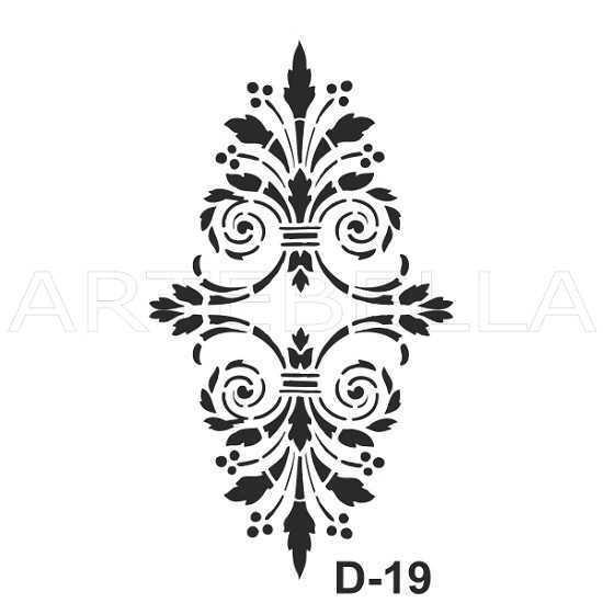 u53330artebella d 19 stencil d serisi 20x30 cm d serisi stenciller 20x30 artebellahtm 597106 53 B -Artebella Art & Craft Hobi ve Sanat Ürünleri
