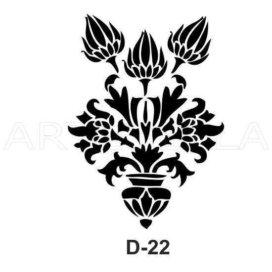 u53630artebella d 22 stencil d serisi 20x30 cm d serisi stenciller 20x30 artebellahtm 597112 53 B