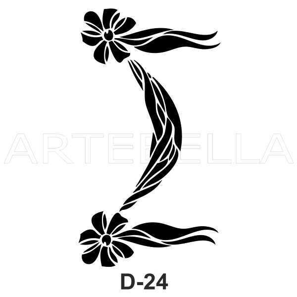 u53830artebella d 24 stencil d serisi 20x30 cm d serisi stenciller 20x30 artebellahtm 609178 53 B -Artebella Art & Craft Hobi ve Sanat Ürünleri