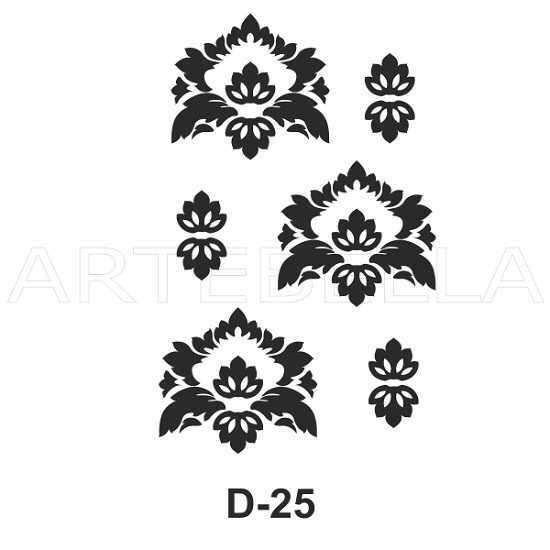 u53930artebella d 25 stencil d serisi 20x30 cm d serisi stenciller 20x30 artebellahtm 597114 53 B -Artebella Art & Craft Hobi ve Sanat Ürünleri