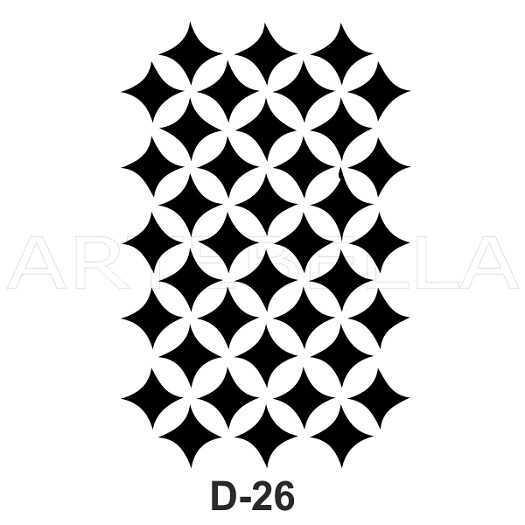 u54030artebella d 26 stencil d serisi 20x30 cm d serisi stenciller 20x30 artebellahtm 609180 54 B