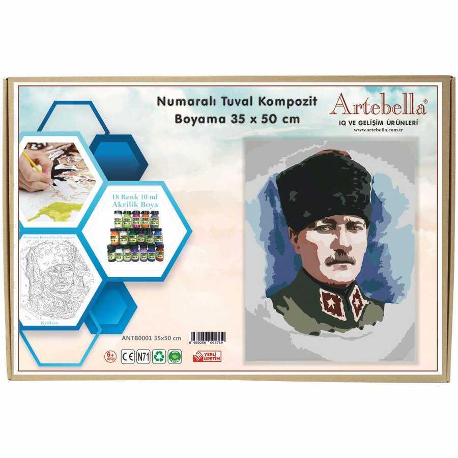 artebella numarali tuval kompozit boyama antb0001 ataturk 35x50 cm 612698 15 B -Artebella Art & Craft Hobi ve Sanat Ürünleri