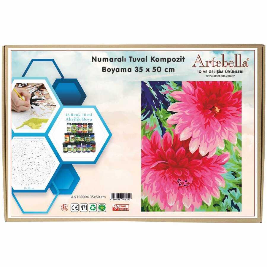 artebella numarali tuval kompozit boyama antb0004 cicek 35x50 cm 612680 15 B -Artebella Art & Craft Hobi ve Sanat Ürünleri
