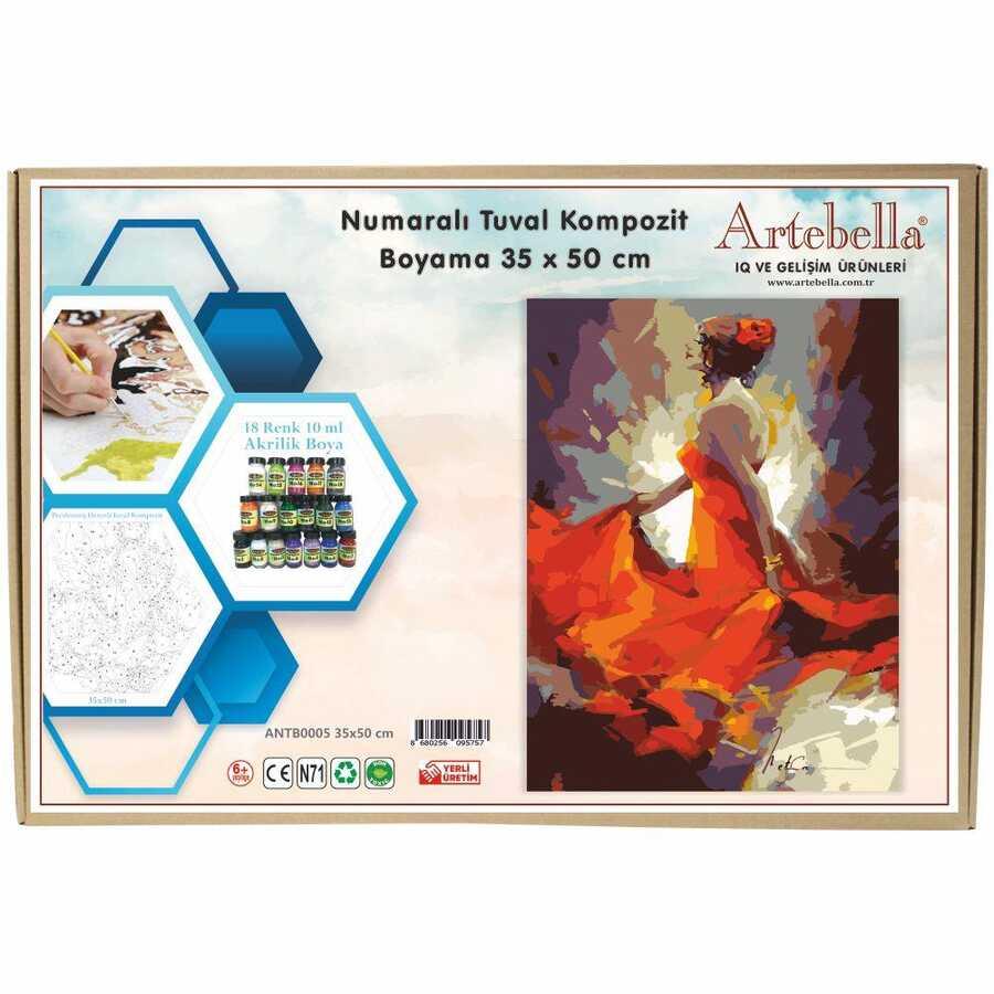 artebella numarali tuval kompozit boyama antb0005 dansci35x50 cm 612674 15 B -Artebella Art & Craft Hobi ve Sanat Ürünleri