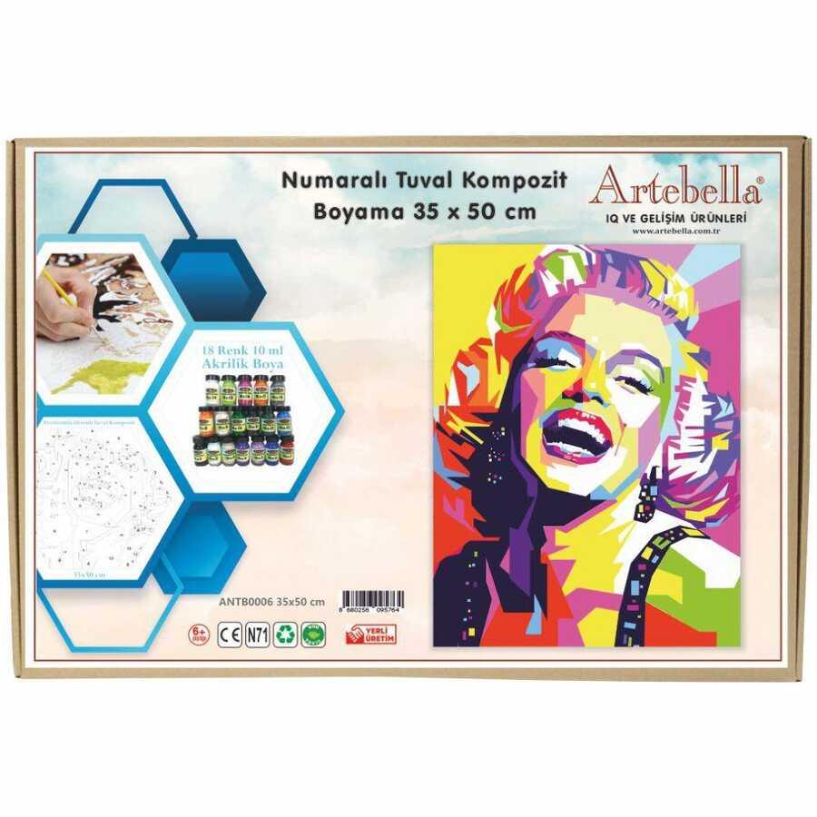 artebella numarali tuval kompozit boyama antb0006 marilyn monroe35x50 cm 612672 15 B -Artebella Art & Craft Hobi ve Sanat Ürünleri