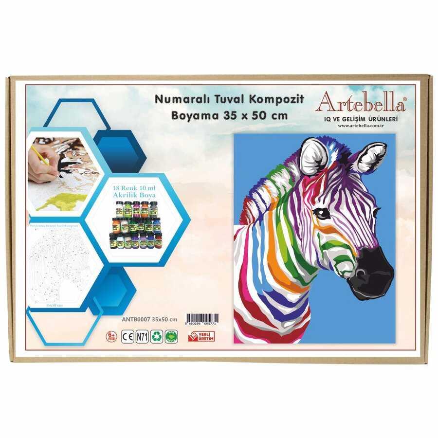 artebella numarali tuval kompozit boyama antb0007 zebra 35x50 cm 612666 15 B -Artebella Art & Craft Hobi ve Sanat Ürünleri