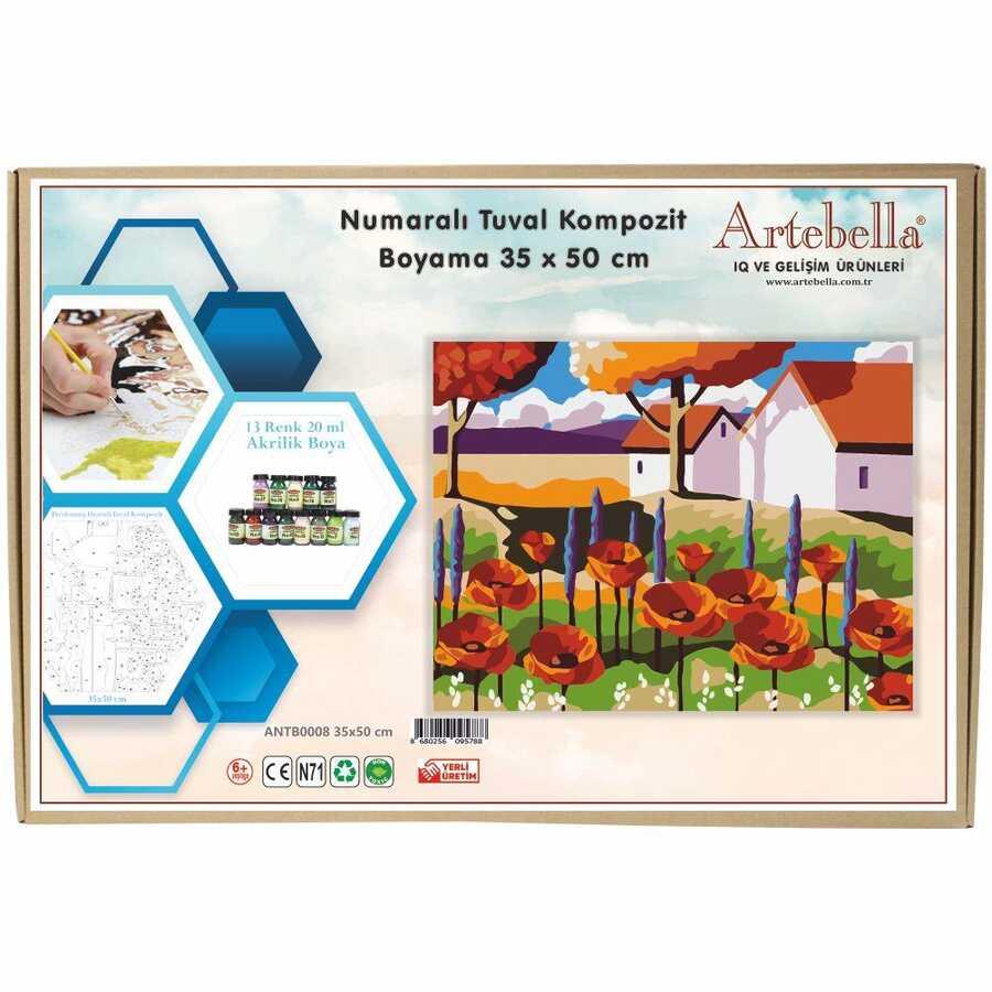 artebella numarali tuval kompozit boyama antb0008 manzara 35x50 cm 612660 15 B -Artebella Art & Craft Hobi ve Sanat Ürünleri