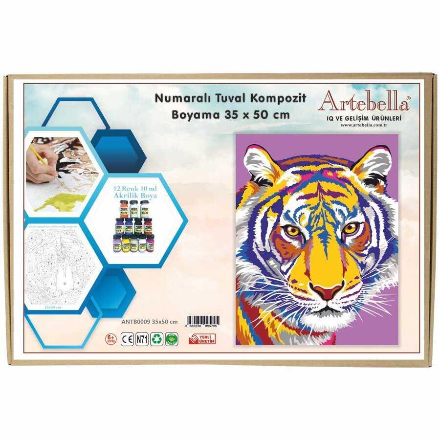 artebella numarali tuval kompozit boyama antb0009 kaplan 35x50 cm 612654 15 B -Artebella Art & Craft Hobi ve Sanat Ürünleri