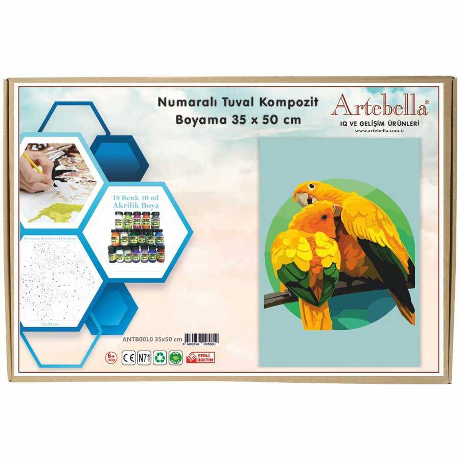 artebella numarali tuval kompozit boyama antb0010 papagan 35x50 cm 612648 15 B -Artebella Art & Craft Hobi ve Sanat Ürünleri