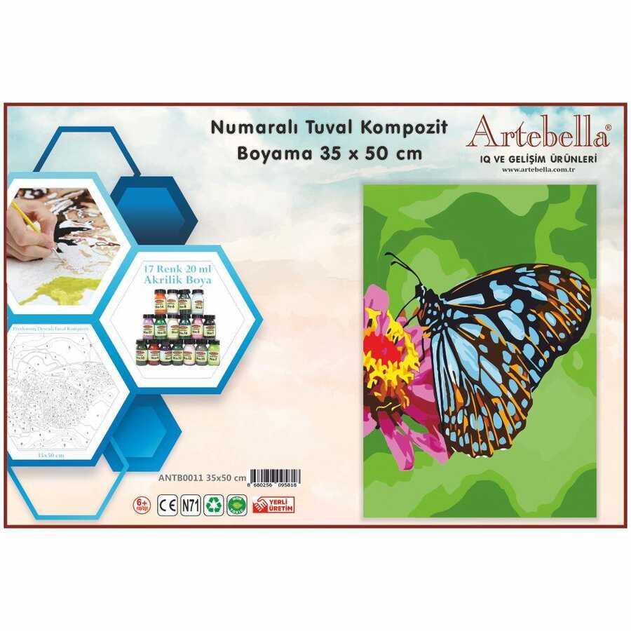 artebella numarali tuval kompozit boyama antb0011 kelebek 35x50 cm 612642 15 B -Artebella Art & Craft Hobi ve Sanat Ürünleri