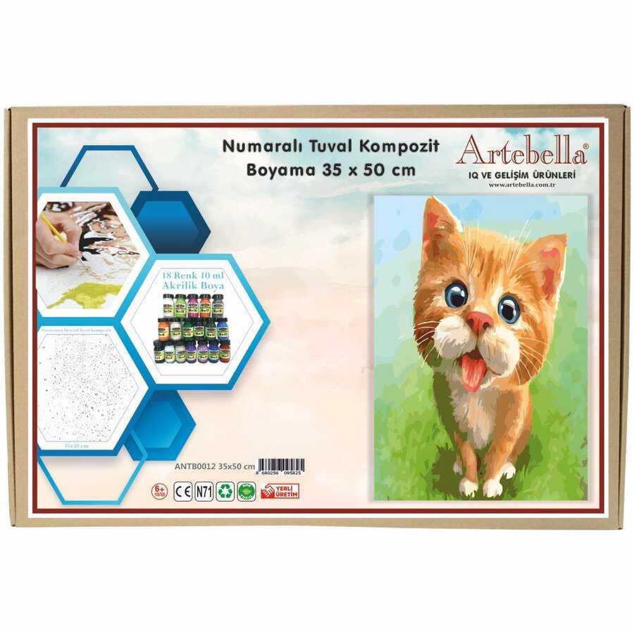 artebella numarali tuval kompozit boyama antb0012 kedi 35x50 cm 612636 15 B -Artebella Art & Craft Hobi ve Sanat Ürünleri